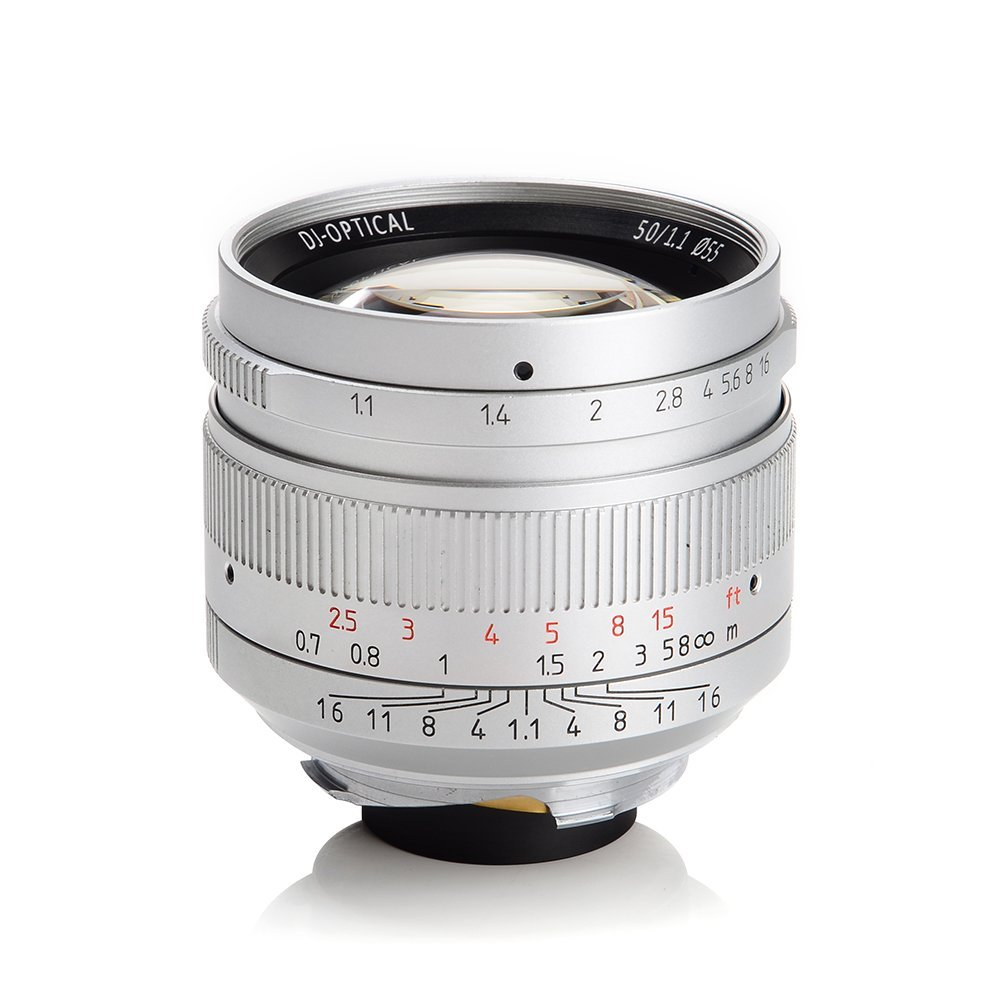 lensa 7artisans 50mm f1.1 for leica warna silver